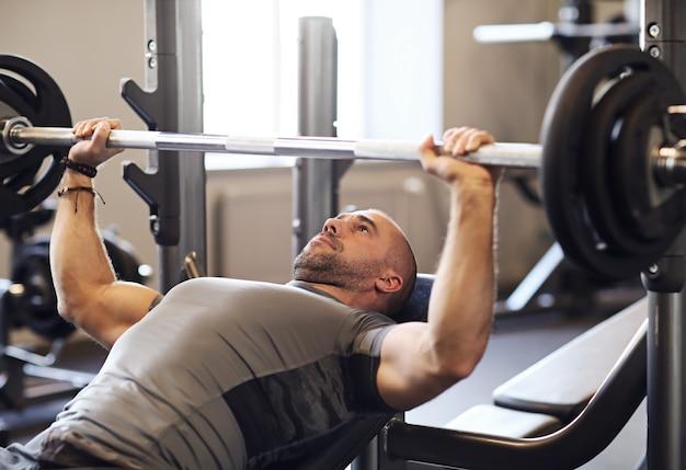 Fitness Dans Le Gymnase, Haltérophilie Photo gratuit
