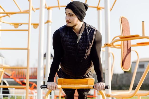 Fitness Homme Formation En Plein Air Vivant Actif En Bonne Santé Photo gratuit