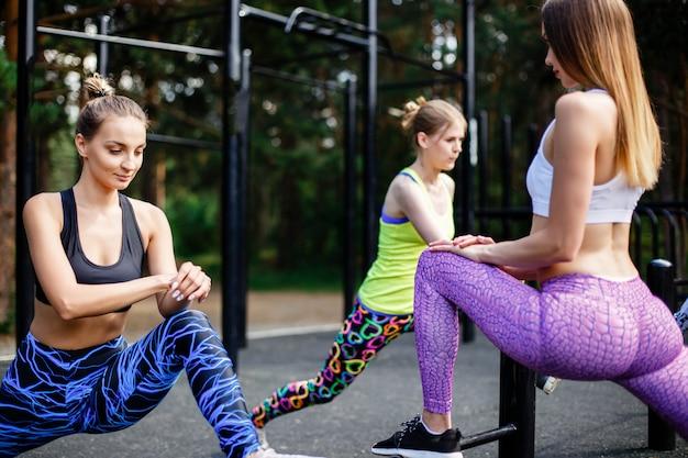 Fitness en plein air. Photo Premium
