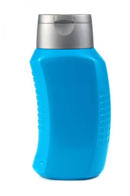 Flacon bleu pour shampooing Photo Premium