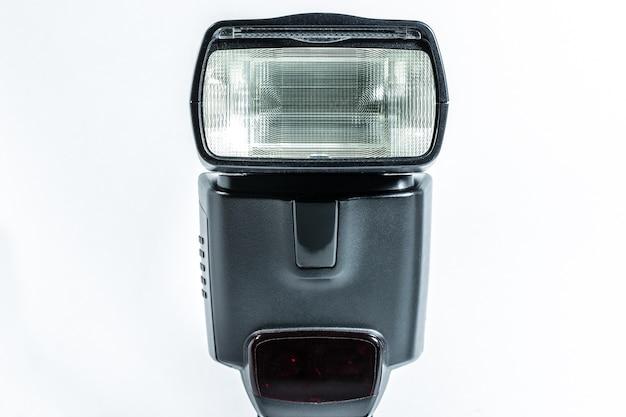 Flash d'appareil photo isolé sur blanc Photo Premium