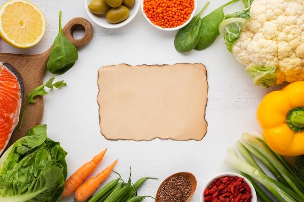 Flay de légumes avec espace de copie Photo gratuit