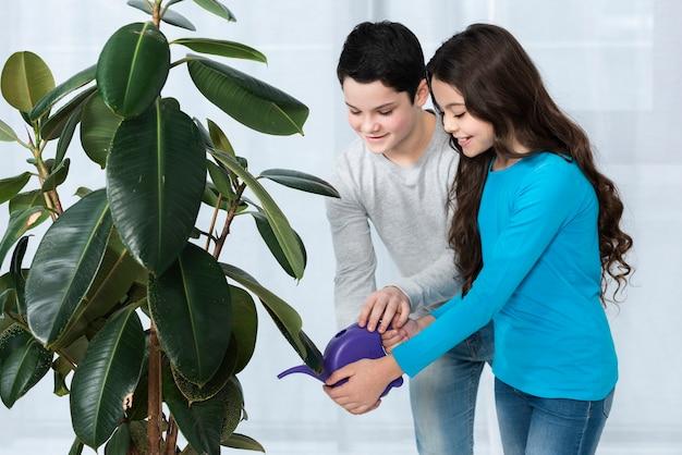 Fleur D'arrosage Pour Enfants Photo gratuit