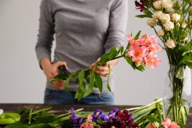 Fleuriste, Confection, Bouquet, Fleurs, Vase Photo gratuit