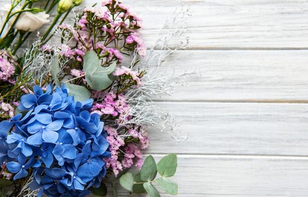 Fleurs D'hortensia Bleu Photo Premium