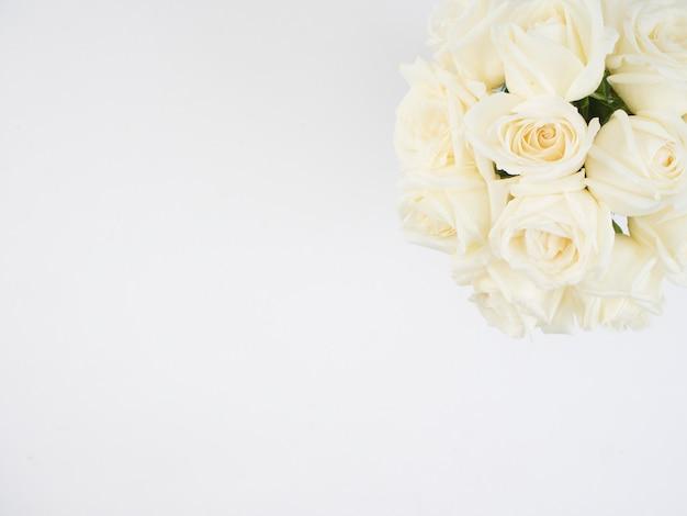 Fleurs Roses Blanches Photo Premium