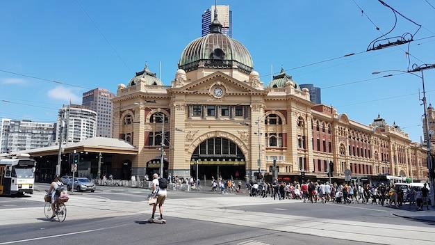 Flinders street station Photo Premium