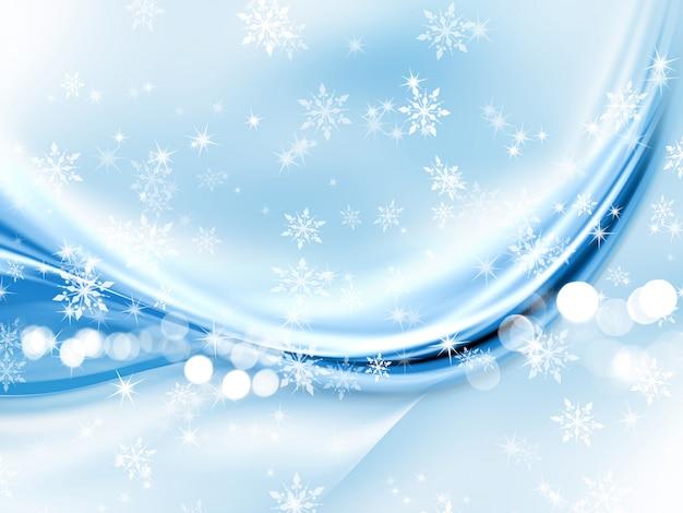 Flocons de neige abstraits de noël Photo gratuit