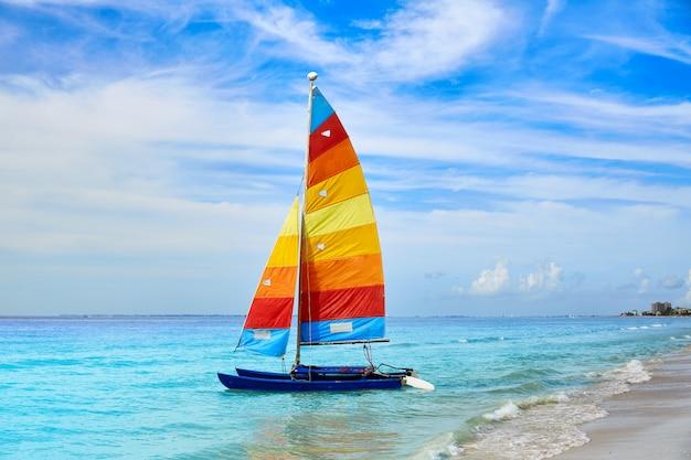 Florida fort myers voilier de plage aux etats-unis Photo Premium
