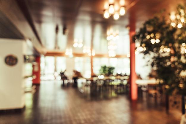 Flou abstrait au restaurant Photo Premium