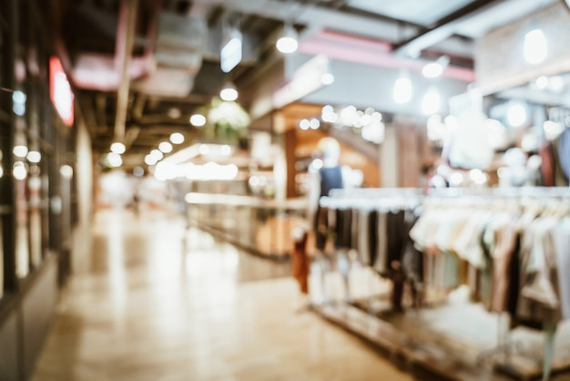 Flou abstrait et flou dans le centre commercial de luxe et magasin de détail pour le fond Photo Premium