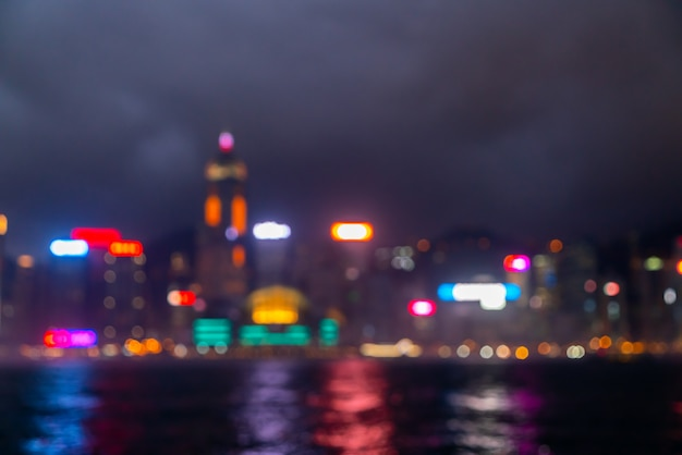 Flou Abstrait Et Flou Hong Kong City Photo Premium