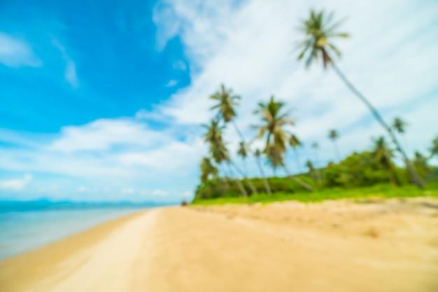 Flou abstrait et plage tropicale défocalisée Photo gratuit