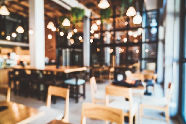 Flou Abstrait Et Restaurant Café Défocalisé Photo Premium