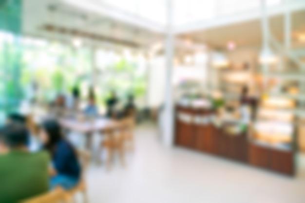 Flou café ou restaurant café avec une image abstraite de lumière bokeh Photo Premium