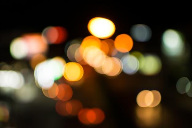 Flou fond abstrait lumières bokeh Photo Premium