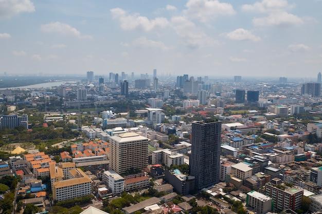 Flou, fond, de, matin, or, lumière, vue, sur, cityscape, bangkok Photo Premium