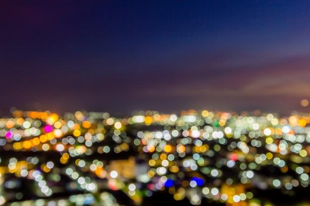 Flou fond de paysage ville bokeh coloré nuit Photo Premium