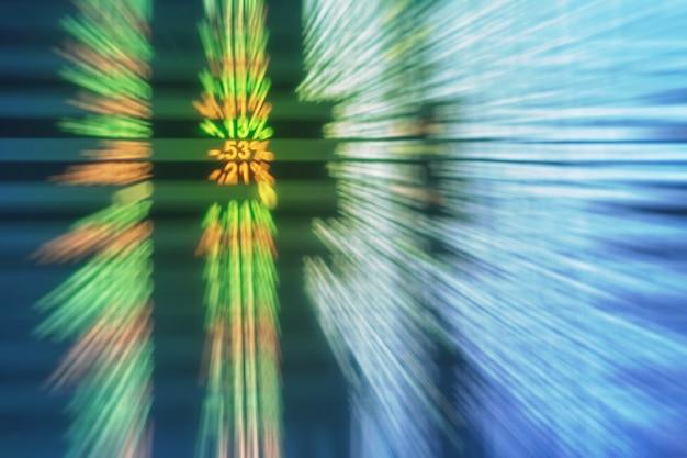 Flou de mouvement de stock conseil texturé fond dans le concept d'investissement Photo Premium