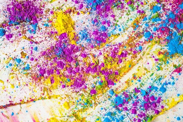 Flous de couleurs sèches brillantes violettes, bleues et jaunes Photo gratuit