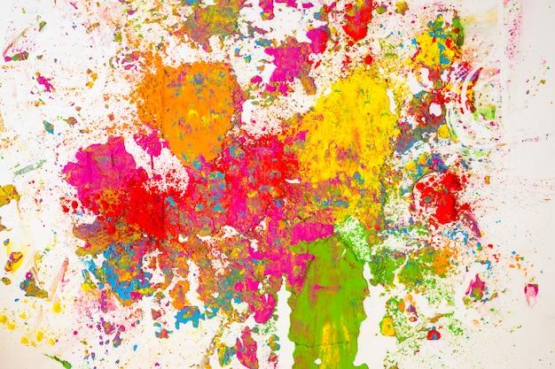 Flous de couleurs sèches orange, jaune, rouge, violet et vert Photo gratuit