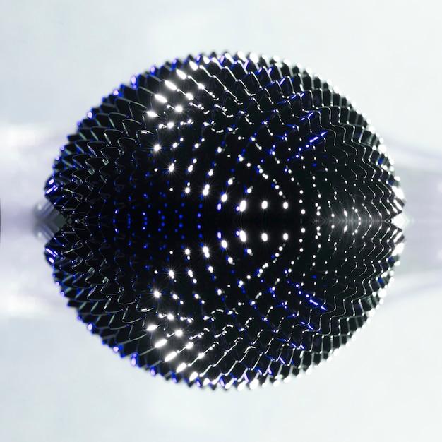 Fluide ferromagnétique vue du dessus avec des nuances de couleurs chaudes Photo gratuit