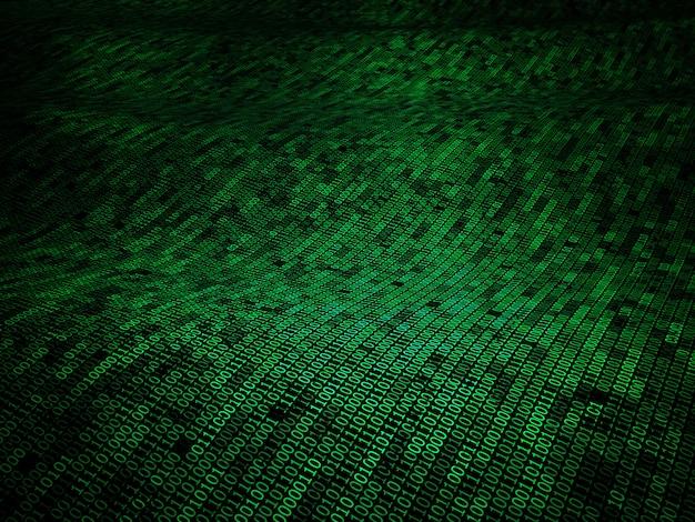 Fond 3d de code binaire Photo Premium