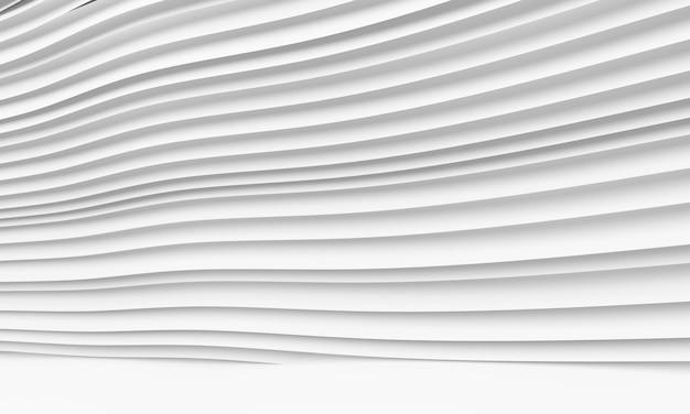 Fond abstrait architecture. illustration 3d du bâtiment circulaire blanc. Photo Premium