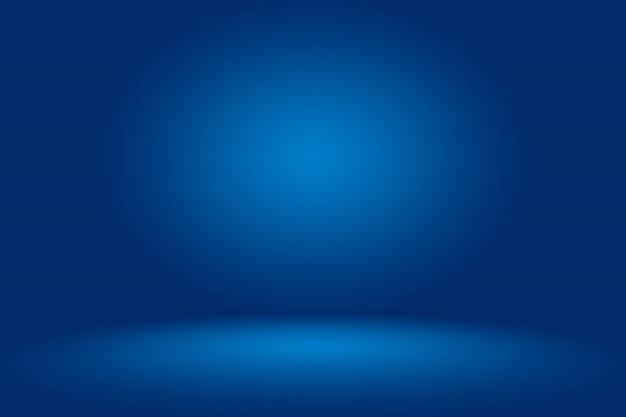 Fond Abstrait Bleu Bleu Foncé Lisse Avec Vignette Noire Studio Photo Premium