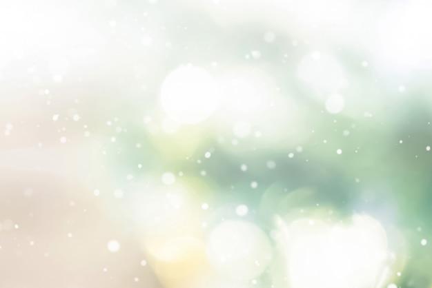 Fond abstrait bokeh abstrait avec de la neige Photo Premium