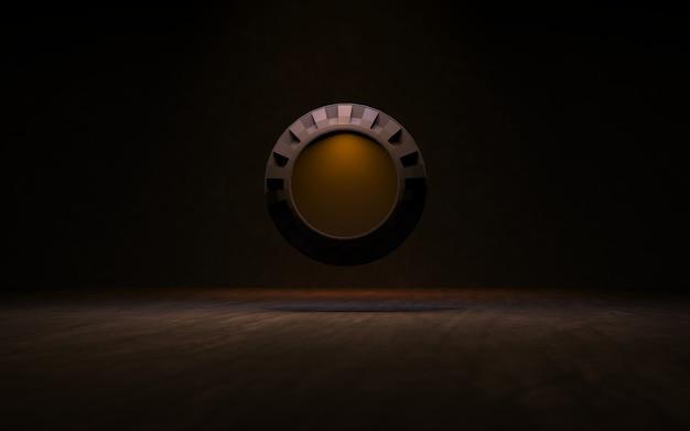 Fond Avec Des Anneaux D'éclairage Rendu 3d Photo Premium