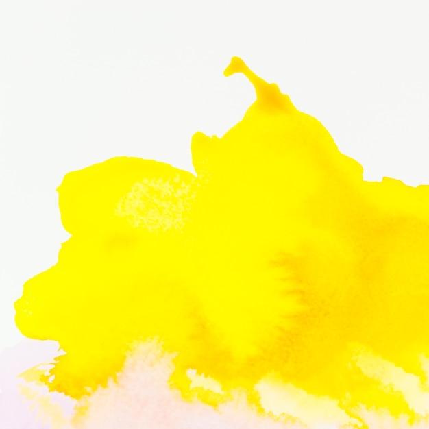Fond aquarelle peinte à la main jaune Photo gratuit