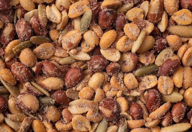 Fond D'arachides Mix De Noix Photo Premium