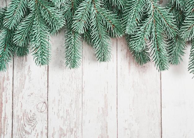 Fond D'arbre De Noël. Carte De Voeux De Bonne Année. Photo Premium