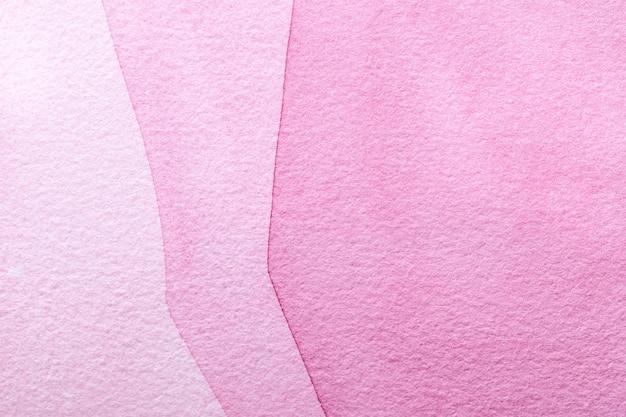 Fond D'art Abstrait Couleur Rose Et Violet. Peinture Multicolore Sur Toile. Photo Premium