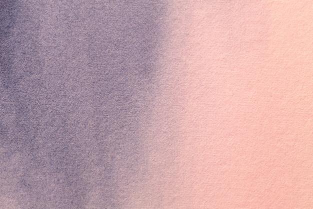 Fond D'art Abstrait Couleurs Rose Et Bleu Clair. Peinture à L'aquarelle Sur Toile. Photo Premium