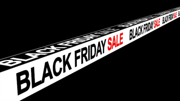 Fond de bannière signe vendredi vente noir Photo Premium