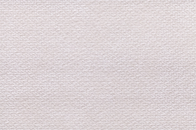Fond Blanc Moelleux En Tissu Doux Et Moelleux. Texture De Textile Agrandi Photo Premium