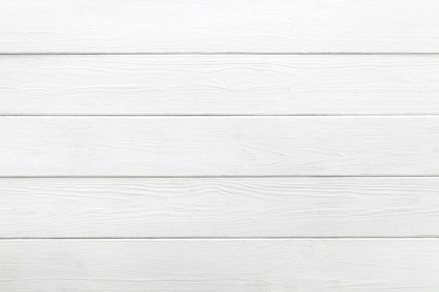 Fond blanc de planches de bois Photo Premium