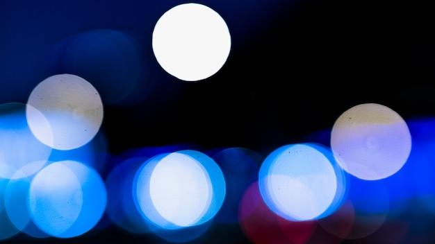 Fond bleu abstrait bokeh lumières brouillées Photo gratuit
