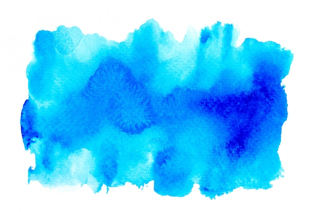 Fond bleu aquarelle abstraite. Photo Premium