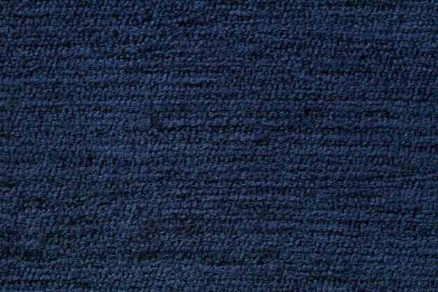 Fond Bleu Marine En Matière Textile Douce. Tissu Avec Texture Naturelle. Photo Premium
