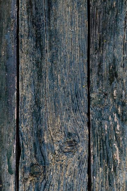 Fond En Bois Bleu. Texture De Panneau De Bois Foncé.   Photo Premium