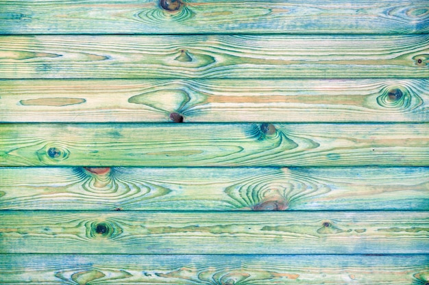 Fond En Bois Bleu Et Vert Clair Photo Premium