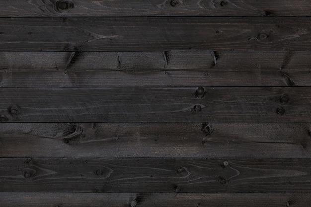 Fond de bois foncé, texture noire Photo Premium