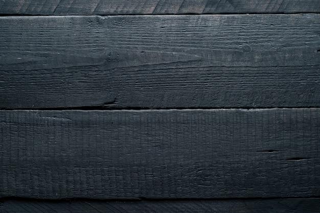 Fond En Bois Noir. Texture Bois Foncé Photo Premium