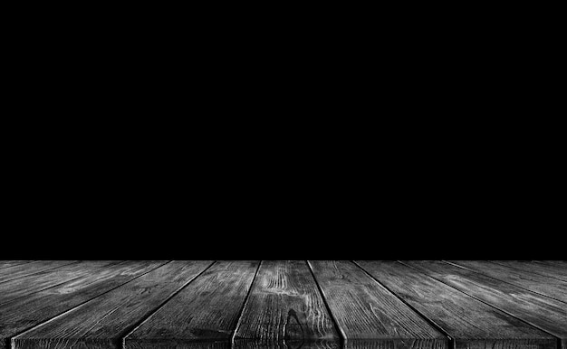 Fond de bois noir Photo Premium
