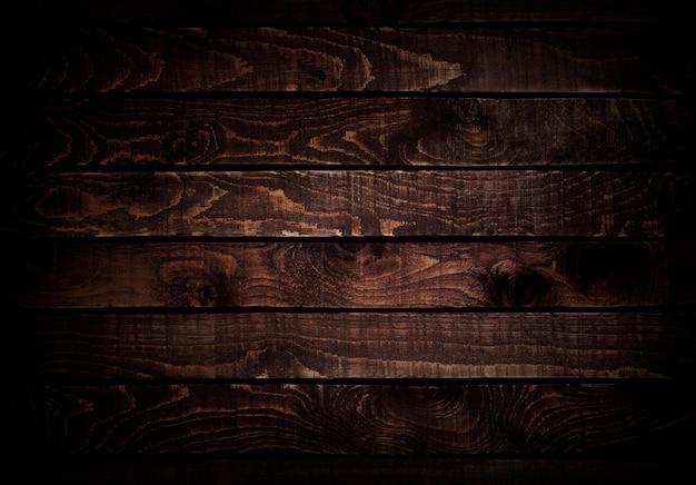 Fond de bois. texture du bois brun foncé. Photo Premium