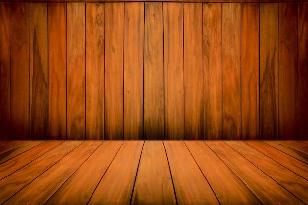 Fond en bois vide pour modèle de conception Photo Premium