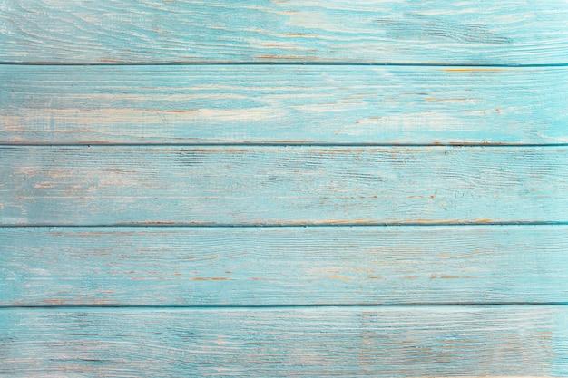 Fond De Bois Vintage Beach - Vieille Planche De Bois Patiné Peint En Couleur De Mer Turquoise Ou Bleue. Photo Premium
